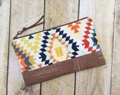 Zippered Clutch - Clutch Purse - Aztec - Clutch - Boho Clutch