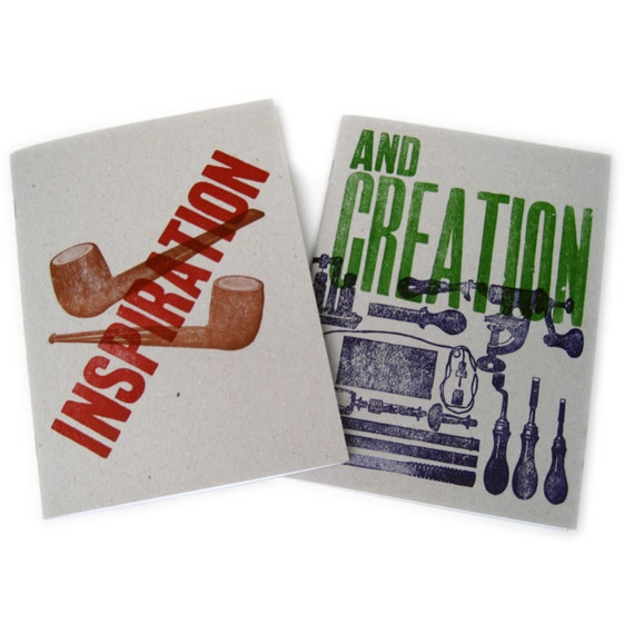Letterpress Double Sided Notebook - Inspiration & Creation