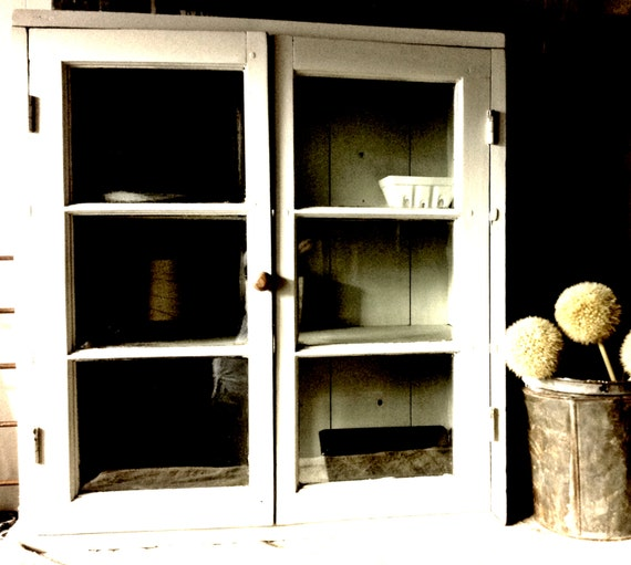 Bubble Glass Kitchen Cabinet Doors: Late 1800s Farmhouse Kitchen Cupboard Bubble Glass Doors Barn