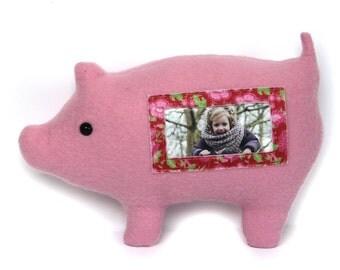 Varken fotolijst / knuffelvarken / roze varken Furry Frame