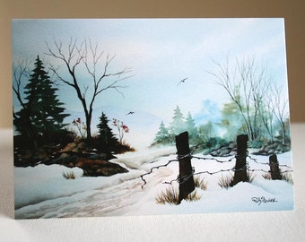 CHRISTMAS CARDS - Country Road Winter - Set of 10
