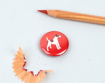 Smooth Fox  Terrier Badge - Smooth Fox Terrier Button - Dog Breed Badge - Dog Badge - Terrier Badge - Gift for Smooth Fox Terrier