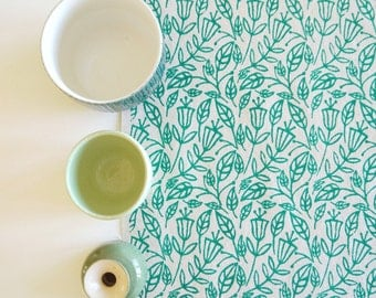 Fall - screen printed fabric hand screen printed fabric for patchwork, sewing, embroidery, crafting & framing in bright colours/colors