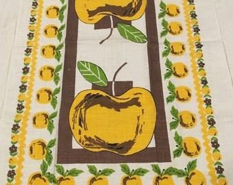 Vintage Golden Apple Dish Towel