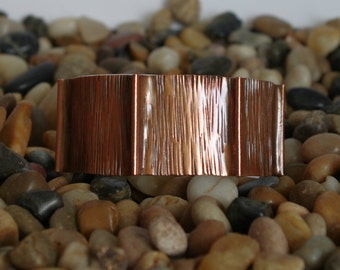 Copper Cuff Fold Formed Bracelet