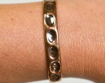 "large 1/4"" copper cuff, copper jewelry, copper, metal, 100% copper,  hammered metal, hammered copper,  bracelet, stacylynnc, handmade"