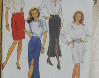 Skirt,  Sewing Pattern, McCalls 6604 Gored Slits 6604 Size 10 Uncut