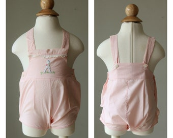 1940s Bunny Sunsuit >>> Size 0 to 3 Months