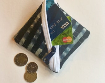 Wonton Pouch, Coin Purse, Change Purse, Coin Pouch, Change Pouch, Zip Wallet, Credit Card Holder, Zippered Pouch, Zipped Purse, Sweetpea Pod