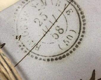 5 Antique French Love Letters Paris Calligraphy Script Lot G