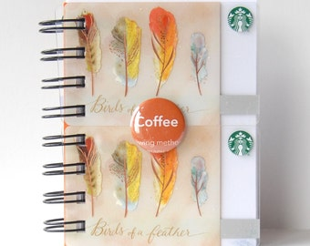 STARBUCKS LARGER Upcycled Gift Card Spiral Notebook or Notepad