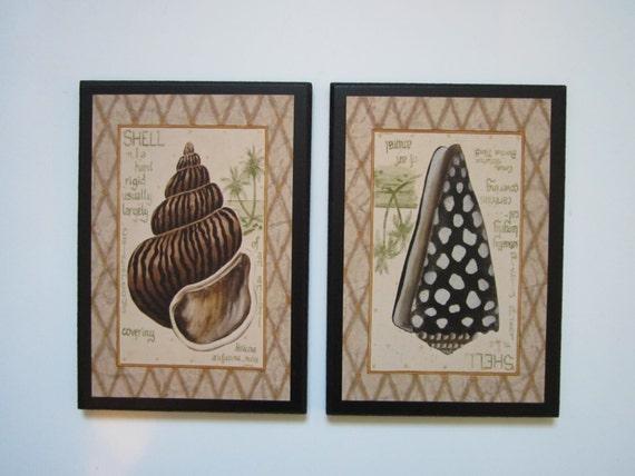 Seashells Bathroom Wall Decor Plaques Sea Shells Tropical