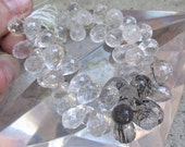 AAA Quality Finely Faceted Graduated Tourmalated Quartz Briolette Beads Many Many Possible pairs