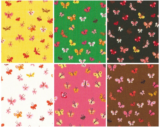 Tiger Lily by Heather Ross - Butterflies bundle HR40933, 6 fat quarters