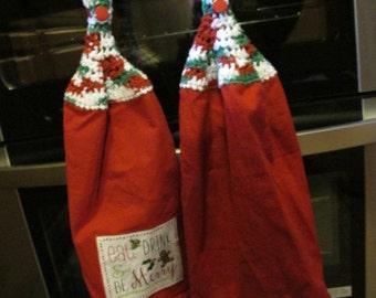 Be Merry Hanging Kitchen Towel Set (5312)
