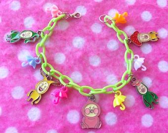 Kobito Dukan Japanese Mascot Pikman Flower Charm Bracelet