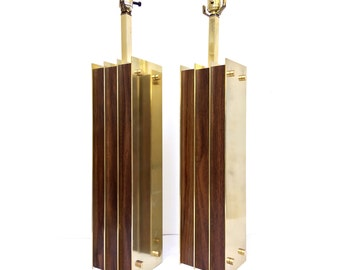 Mid Century Modern Large Scale Laurel Table Lamps