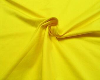 Jersey • uni yellow • Cotton Jersey Knit Fabric 0.54yd (0,5m) 002419