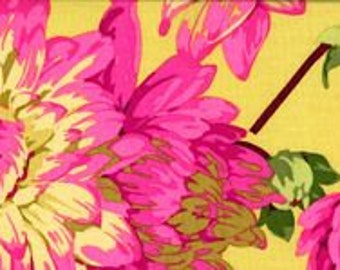 Martha Negley Fabric Varigated Dahlia Fabric Floral
