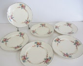 Vintage China Plates Taylor Smith Taylor - small dessert plate floral
