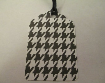 10 Black and White Themed Handmade Gift Hang Tags Note Card Jenuine Crafts