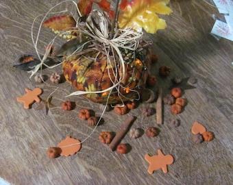 Handmade Pumpkin, Putka Decor, Table Scatter, Gingerman,Table Centerpiece