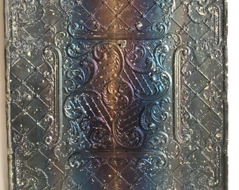 "24""x 24"" Antique 1890's Ceiling Tin Bare Metal Embossed Reclaimed 261-16"