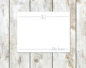Personalized Initial Flat Note Cards - Custom Flat Notecards - Childrens Stationery - Choose Colors