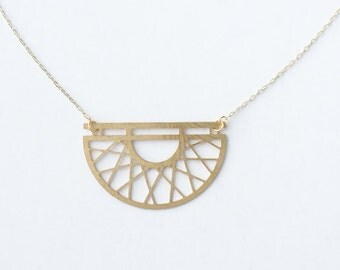 Art Deco Semicircle Necklace | ATL-N-156