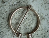 Fern Frond Elvish Penannular Brooch