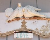 Love Birds Wall Art, Salvaged Wood