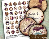 Gothic Digital Collage Sheet Vintage Raven Images for Pendants, Glass Dome Pendants, Resin Jewelry, Craft Paper, Decoupage, Digital Sheet