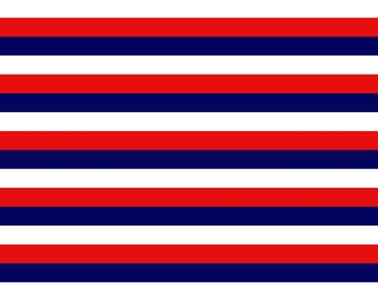 Knit patriotic stripes 1 yard cotton spandex