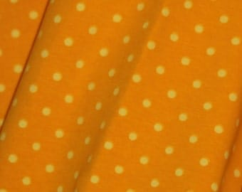Yellow/yellow dots 1 yard cotton lycra knit