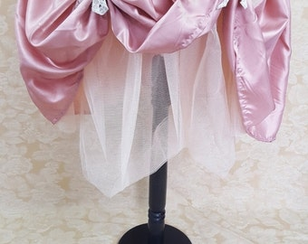 Soft Pink Knee Length Bustle Skirt-One Size Fits All