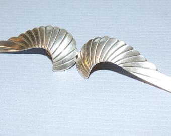 ANGEL WINGS Silver Pierced Earrings