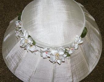 1950s Ivory Bridal Hat