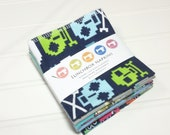 Lunchbox cloth napkins set of 8 washable eco friendly towels BOY themed 0020
