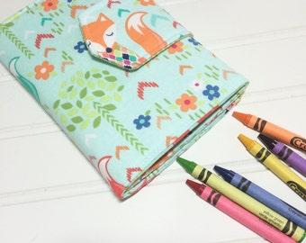 Crayon Wallet - READY TO SHIP Hip Trendy Travel - Fox forest