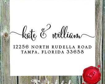 Return address   DIGITAL DOWNLOAD  modern design with heart  - style 1280YY -  Digital File, Print Anywhere