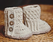 Instant download - Baby Booties Crochet PATTERN (pdf file) - Polar Buttones Boots