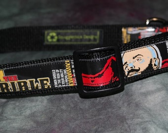 Adjustable Dog Collar from recycled Big Sky Ivan theTerrible Beer Labels