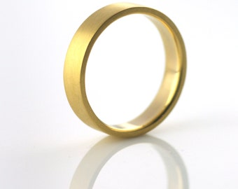 Recycled 22k Gold Wedding Band by VK Designs in Portland, OR