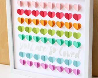 Rainbow Baby Shower Guest Book, Rainbow Nursery, Rainbow Hearts, Baby  Shower Sign In