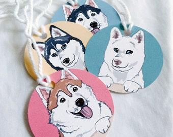 Husky Gift Tags - Set of 6
