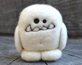 Needle Felted Cashmere Wool Yeti Egg Toy Made to Order