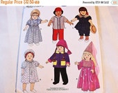 October Sale 25% OFF 18 inch Doll Clothes Pattern Doll Dresses Sewing Pattern, Nightgown, Jacket, Top, Pants, Hat fits 18 inch Dolls