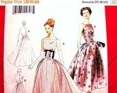 October Sale 25% OFF Retro Vogue Pattern 1950's Dessin Original Model Misses Wedding Dress Pattern Bridal Gown, Formal Dress size 14 16 18 2