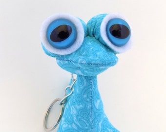 Cute Keychain, Monster Keychain, Alien Keychain, Toy Keychain, Zipper Pull, Backpack Buddy by Adopt an Alien named Gilmore