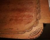 Folk Art TRAY Carved Wood Rustic Primitive old vintage antique wooden